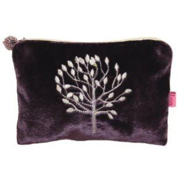 Mulberry Tree Velvet Applique purse
