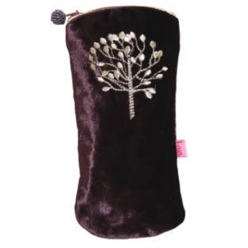 LUA Mulberry Tree velvet and embroidered glasses case