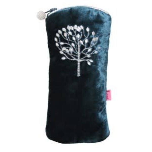 Mulberry Tree velvet and embroidered glasses case