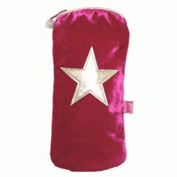 Velvet star glasses purse