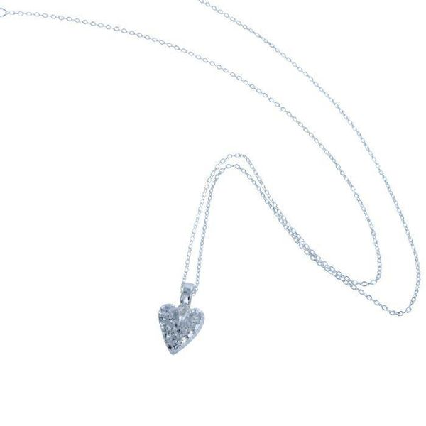 Mini heart silver necklace