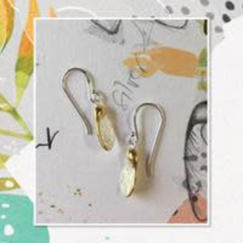 Reeves and Reeves Sycamore silver and gold earrings