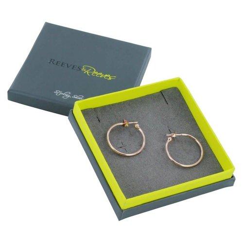 Reeves and Reeves Hoop rose gold small earrings