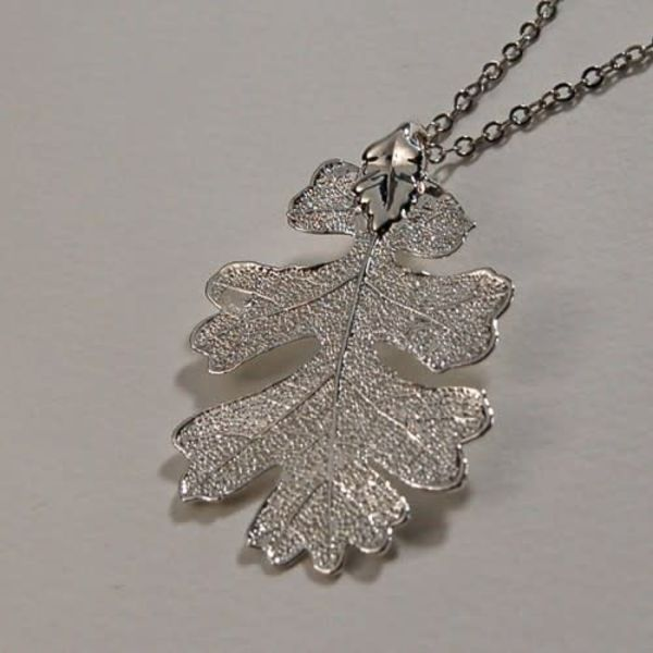 Oak Leaf silver pendant