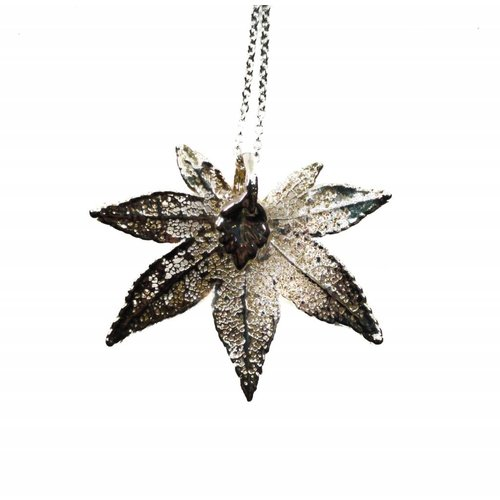 Roxburgh Maple leaf silver pendant