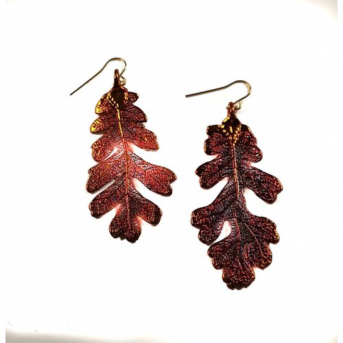 Roxburgh Oak leaf copper Earrings