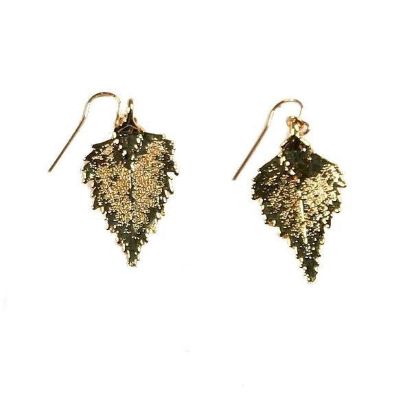 Silver Birch Earrings Gold