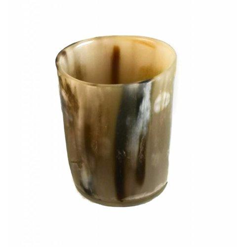 Abbey Horn Tot or vase vessel oxhorn 07