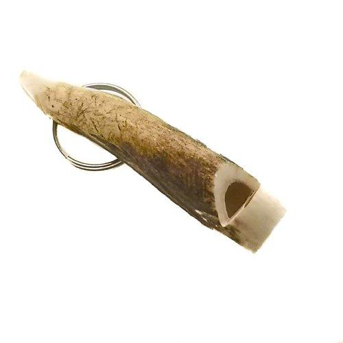Abbey Horn Schlüsselanhänger mit Pfeifenhirschhorn