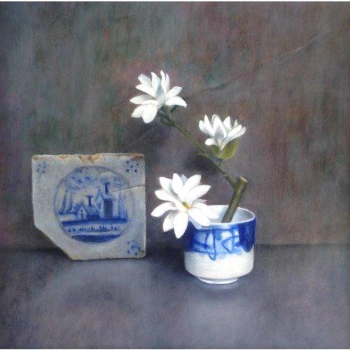 Linda Brill Magnolia Stellata and Dutch Tile