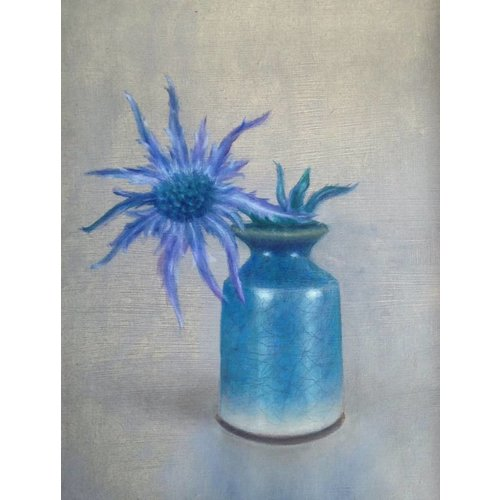 Linda Brill Sea Holly und Raku-Topf