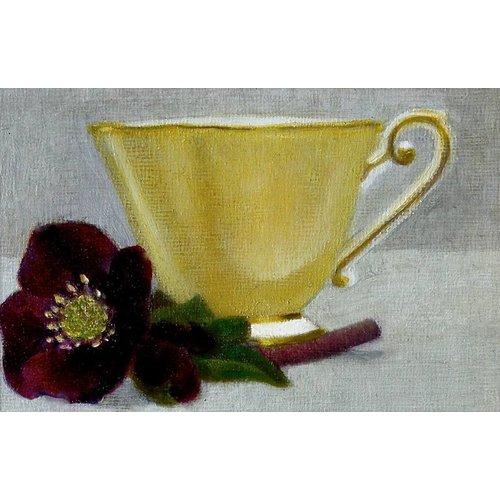 Linda Brill Gelbe Tasse und Hellebore