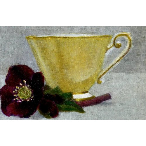 Linda Brill Yellow Cup and Hellebore