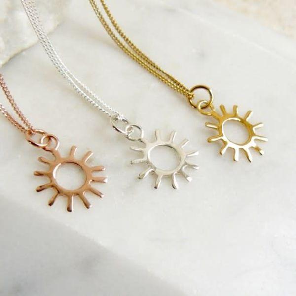 Sun gold vermeil necklace