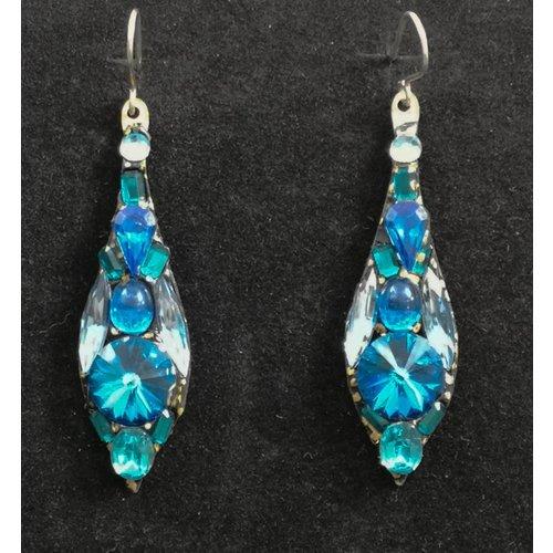 Annie Sherburne Vintage drop blue  earrings 85