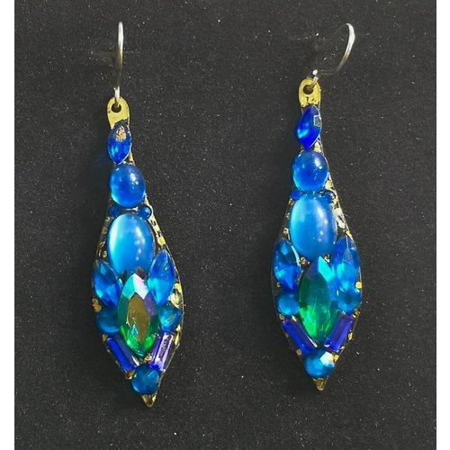 Annie Sherburne Vintage Tropfen blaue Ohrringe 88