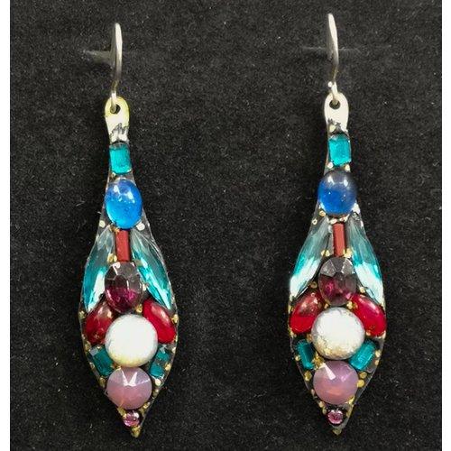 Annie Sherburne Vintage drop multi earrings 82
