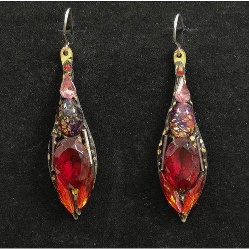 Annie Sherburne Vintage drop red earrings 81
