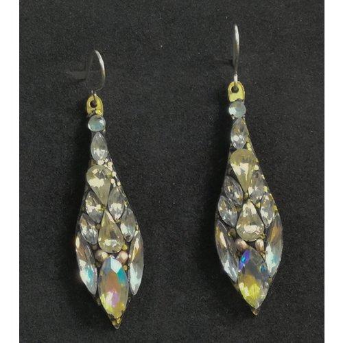 Annie Sherburne Vintage drop white  earrings 87