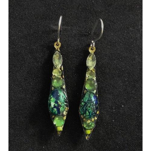 Annie Sherburne Vintage small drop green  earrings 93