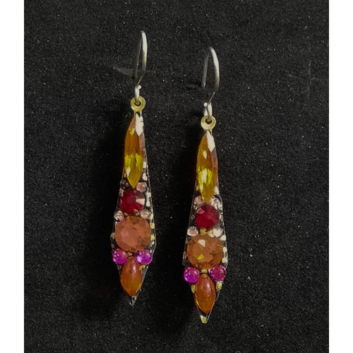 Annie Sherburne Vintage small drop orange  earrings 96