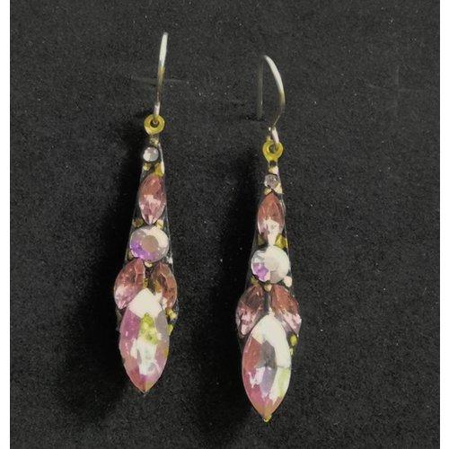 Annie Sherburne Vintage small drop pink earrings 94