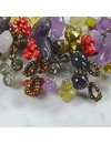 Autumn beaded necklace satin