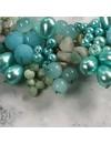 Collar de cuentas azul pálido 025