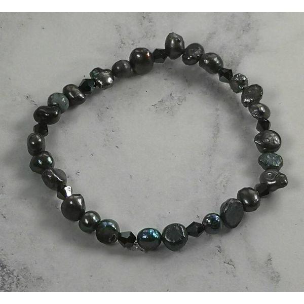 Pulsera perla oscura 040