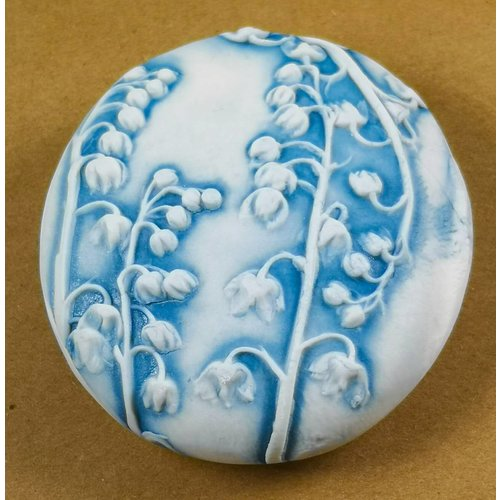 Clare Mahoney Hand Made Porcelain textured  touchstone 013