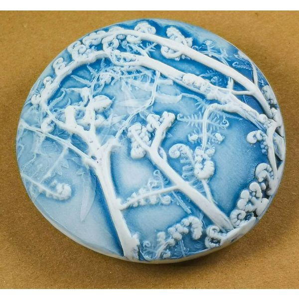 Hand Made Porcelain textured  touchstone 016