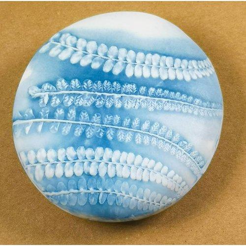 Clare Mahoney Strukturierter Prüfstein aus handgemachtem Porzellan 017