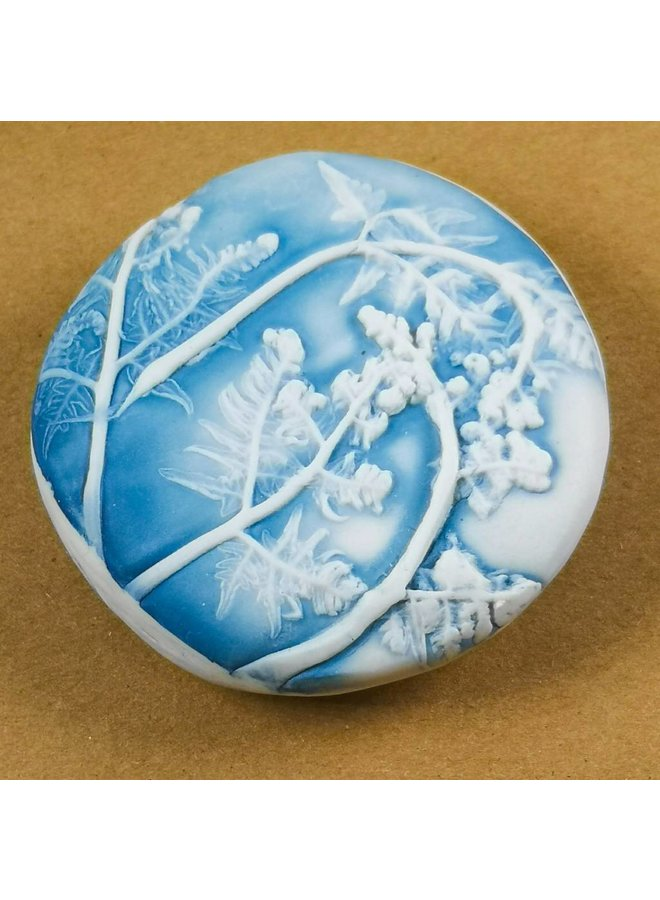 Hand Made Porcelain Textured touchstone 018