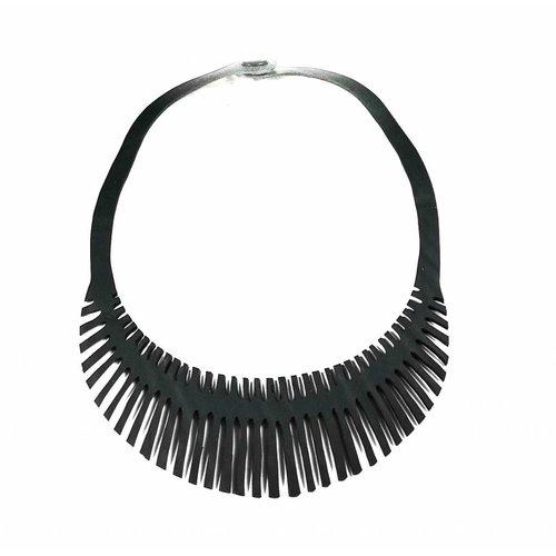 Paguro Fishbone rubber necklace