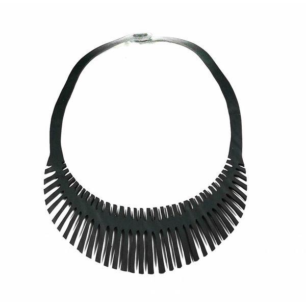Fishbone inner tube necklace