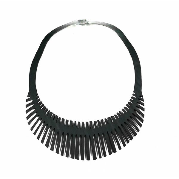 Fishbone rubber necklace