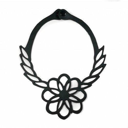 Paguro Collar de goma con tubo interior de flores 04