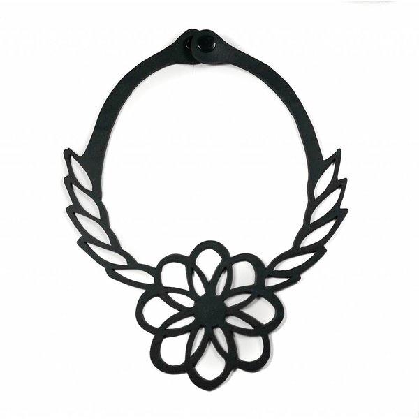 Collar de goma con tubo interior de flores 04