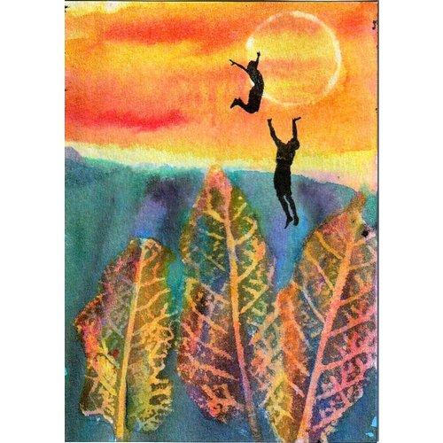 Alyson Barnard Akrobatik Sonnenuntergang