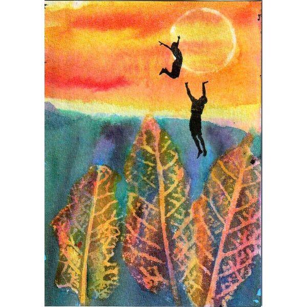 Akrobatik Sonnenuntergang