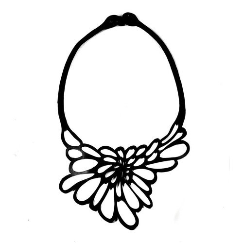 Paguro Edelweisse rubber necklace