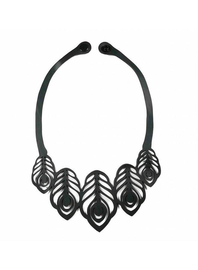 Peacock rubbler necklace