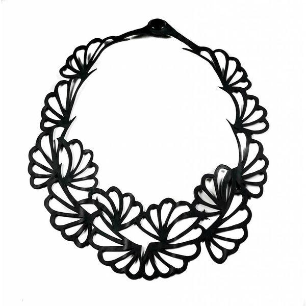 Violets inner tube  necklace