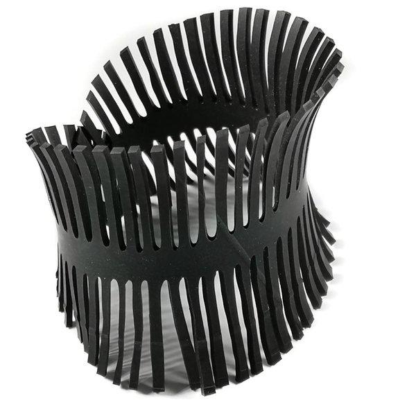 Fishbone rubber bracelet medium
