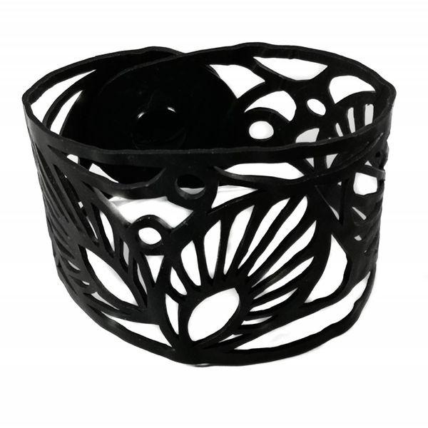 Leaf rubber bracelet medium