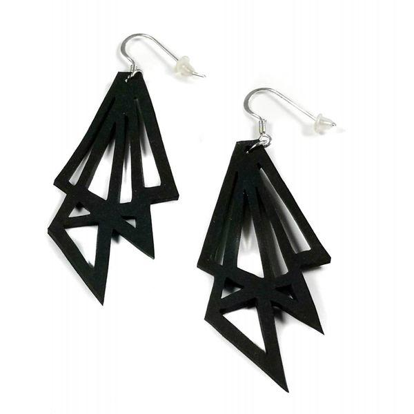 Thunder Rubber  earrings