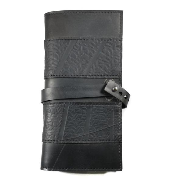 Wallet inner tube Blackl  slim fastener style
