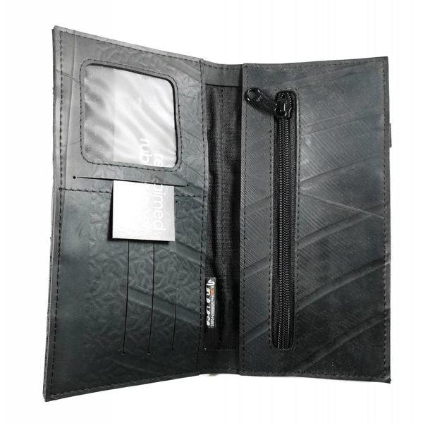 Wallet inner tube Black  slim fastener style