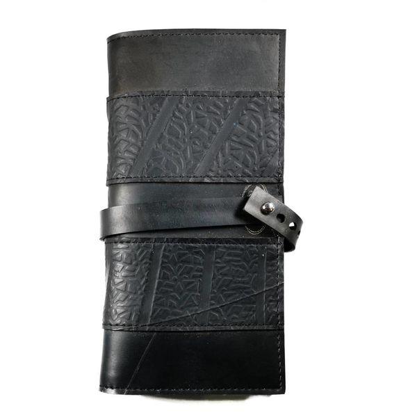 Wallet inner tube Black Blue slim fastener style