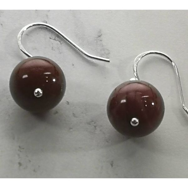 Mookaite and silver hook Earrings